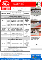 Forum 2018-2019 ASM karate