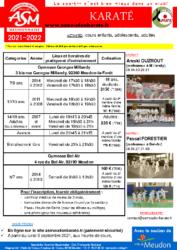 Forum 2021-2022 ASM karate